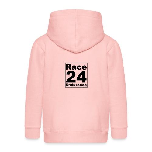 Race24 logo in black - Kids' Premium Zip Hoodie