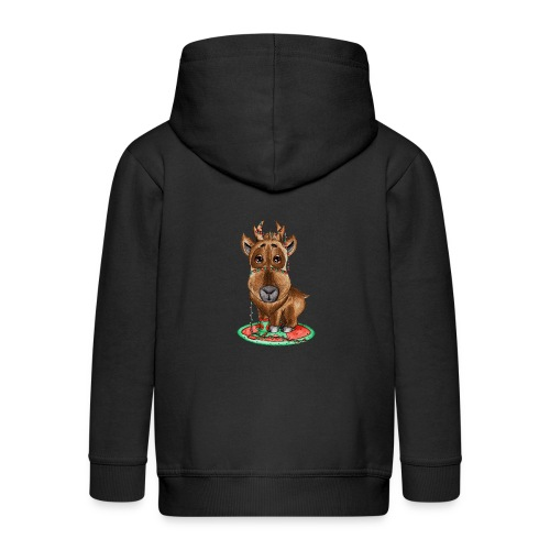 Reindeer refined scribblesirii - Kids' Premium Zip Hoodie