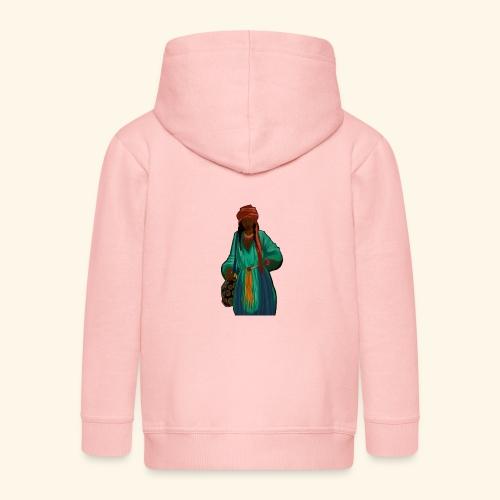 Femme avec sac motif - Veste à capuche Premium Enfant