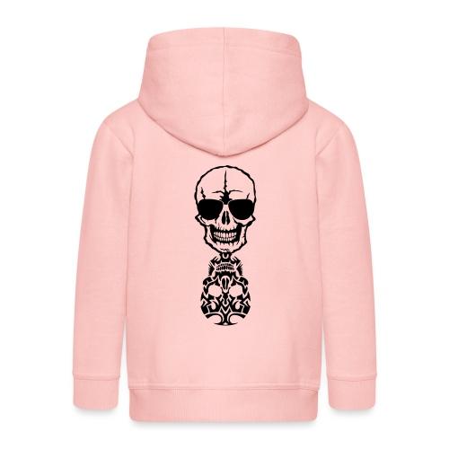 tete mort skull tribal reflet dead death - Veste à capuche Premium Enfant