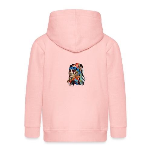 Pióra i pióropusze - Rozpinana bluza dziecięca z kapturem Premium