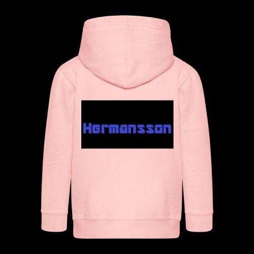 Hermansson Blå/Svart - Premium-Luvjacka barn