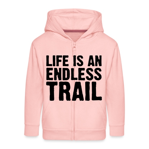 Life is an endless trail - Kinder Premium Kapuzenjacke