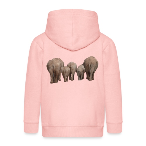 elephant 1049840 - Felpa con zip Premium per bambini