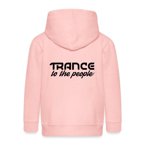 Trance to the People Sort Logo - Premium hættejakke til børn