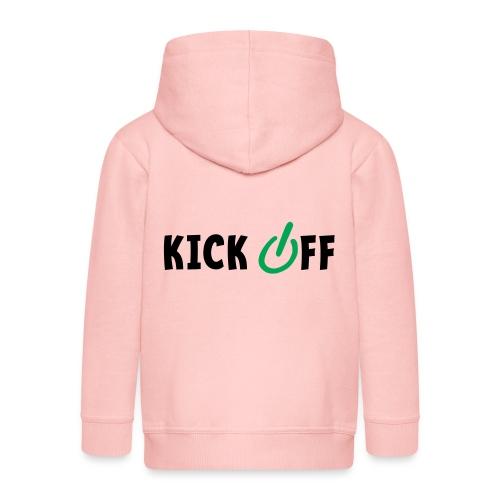 Slogan Kick off. Aftrap of meeting concept. - Kinderen Premium jas met capuchon