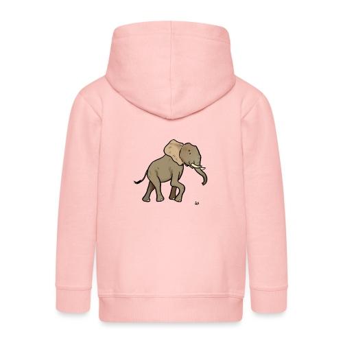 Afrikansk elefant - Premium Barne-hettejakke