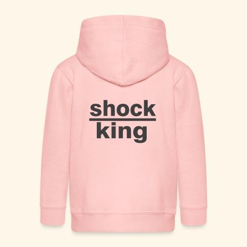 shock king funny - Felpa con zip Premium per bambini