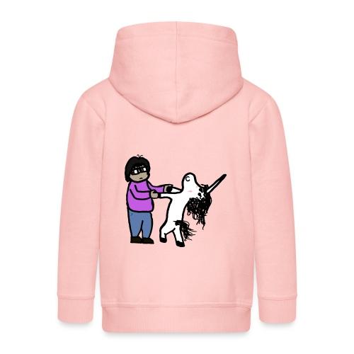 Unicorn Veñ - Felpa con zip Premium per bambini