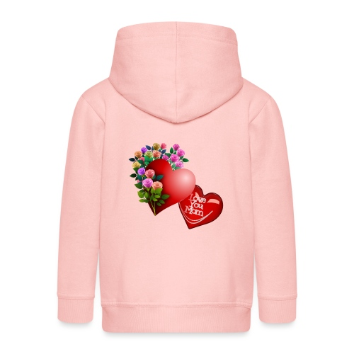 Mother's Day Love You Mom - Kids' Premium Hooded Jacket