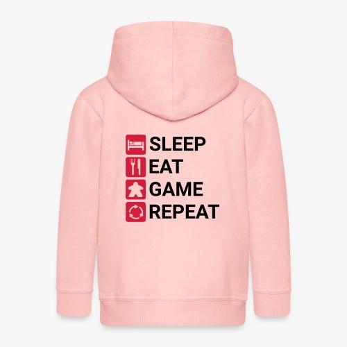 Sleep, eat, game, repeat - Premium Barne-hettejakke