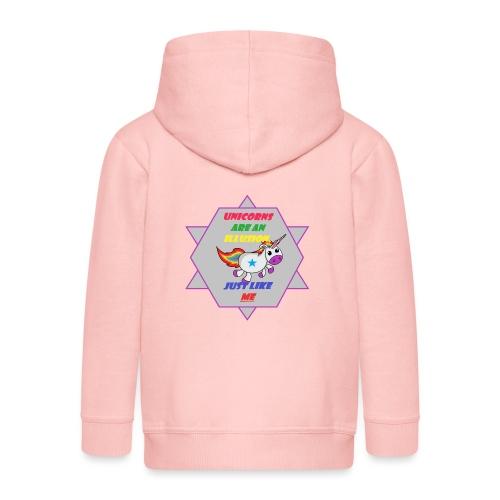 Unicorn with joke - Kids' Premium Hooded Jacket