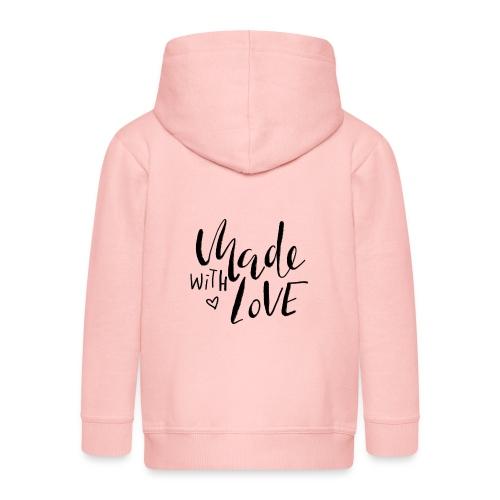 Made with Love - Kinder Premium Kapuzenjacke