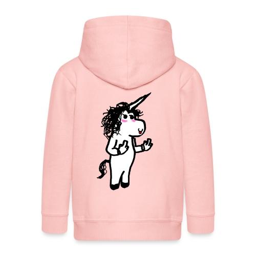 unicorno maleducato - Felpa con zip Premium per bambini