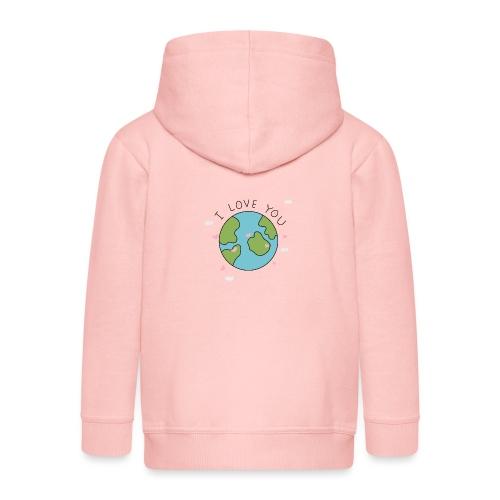 iloveyou - Felpa con zip Premium per bambini