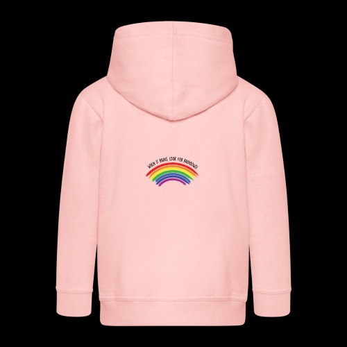 When it rains, look for rainbows! - Colorful Desig - Felpa con zip Premium per bambini