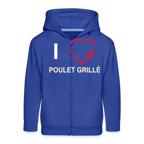 i love POULET GRILLE BlGr - Veste à capuche Premium Enfant