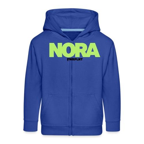 PWRPLNT NAMES NORA 01 - Kids' Premium Zip Hoodie
