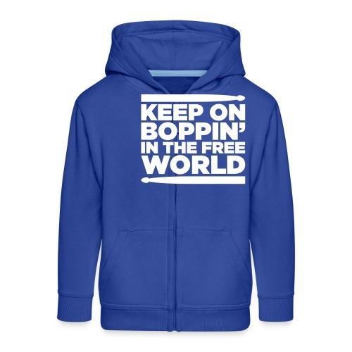 Keep on Boppin' - Kids' Premium Zip Hoodie
