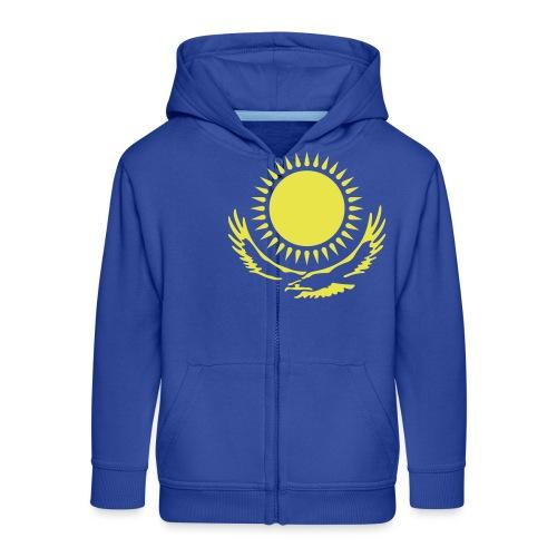 Kasachstan-Wappensymbol - Kinder Premium Kapuzenjacke