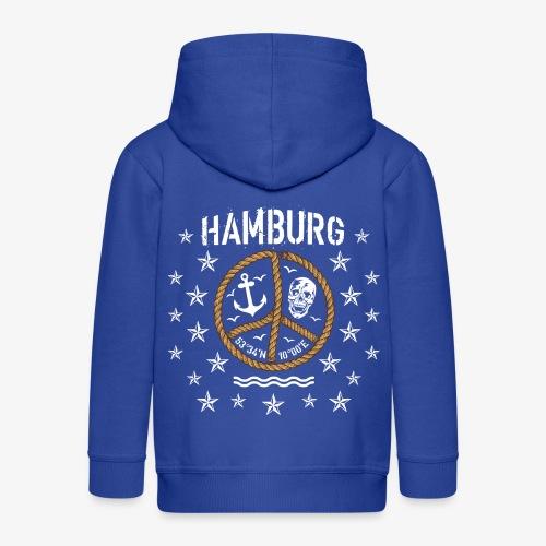 103 Hamburg Totenkopf Koordinaten Peace Anker Seil - Kinder Premium Kapuzenjacke
