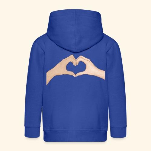 Mains Coeur Amour - Love hands - Veste à capuche Premium Enfant
