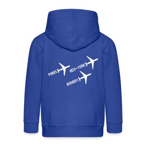 3 voyages avion white - Veste à capuche Premium Enfant