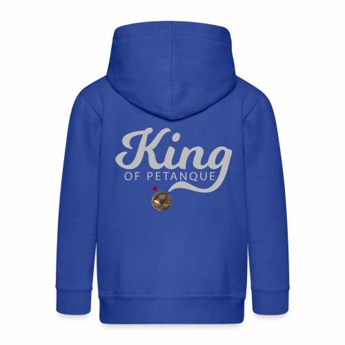 KING OF PETANQUE - Veste à capuche Premium Enfant