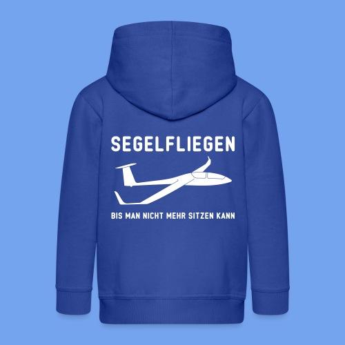 Segelfliegen Segelflieger Geschenk T-Shirt sitzen - Kinder Premium Kapuzenjacke