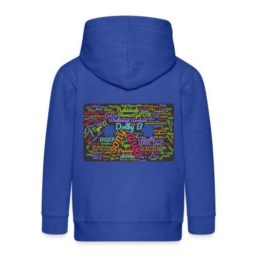 wordcloud Cassettes- WA - Kids' Premium Hooded Jacket