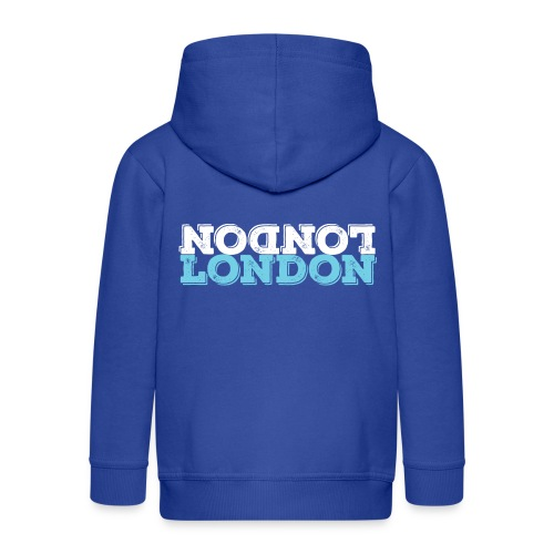 London Souvenir - Upside Down London - Kinder Premium Kapuzenjacke