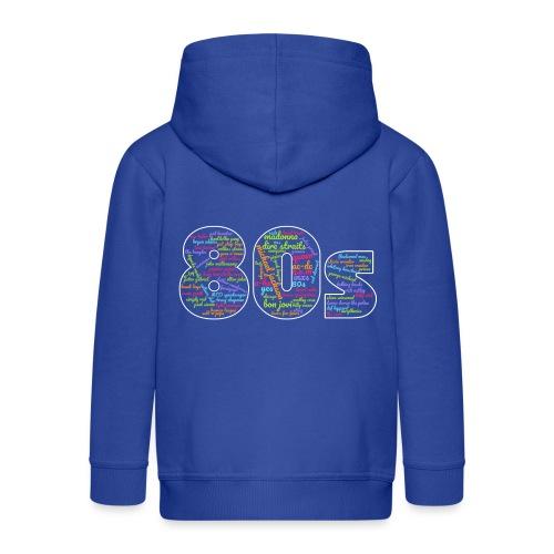 Cloud words 80s - Kids' Premium Hooded Jacket
