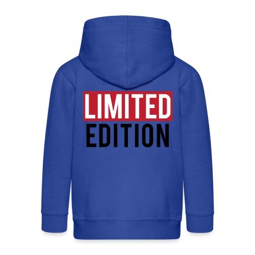 limited edition t shirt design text design - Felpa con zip Premium per bambini