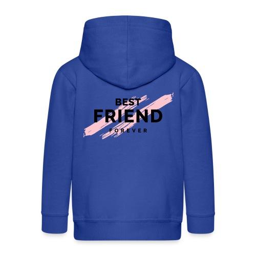 best friend forever - Rozpinana bluza dziecięca z kapturem Premium