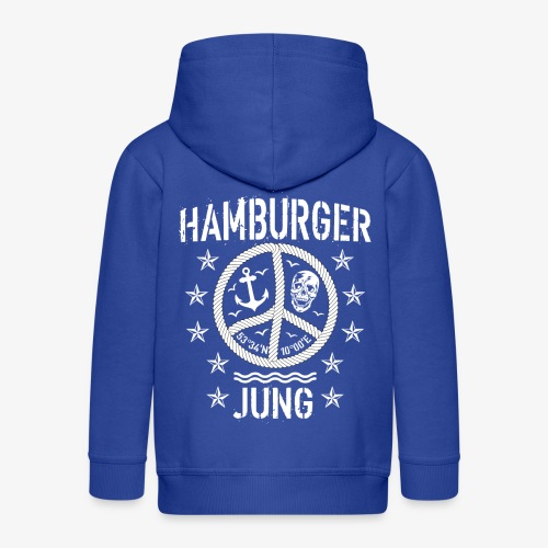 96 Hamburger Jung Peace Friedenszeichen Seil - Kinder Premium Kapuzenjacke
