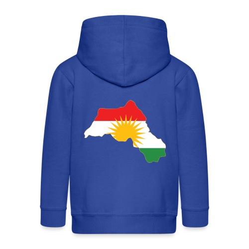Kurdistan Flag Map - Kinder Premium Kapuzenjacke