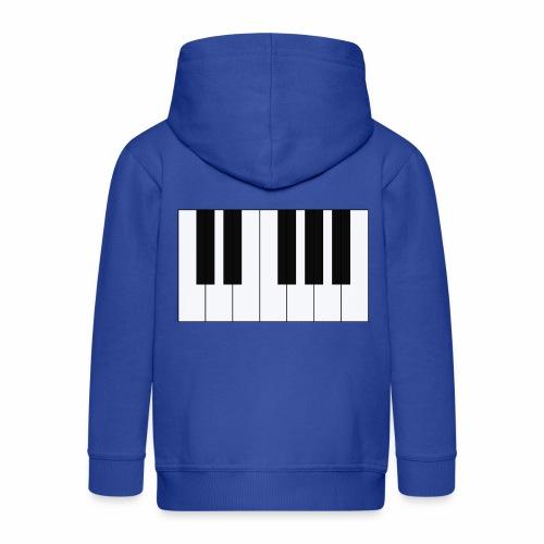 Piano - Kids' Premium Zip Hoodie