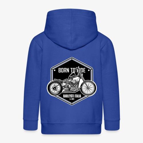 Born to Ride - Vintage motorbike - Felpa con zip Premium per bambini