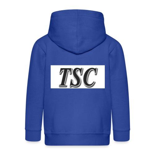 TSC Black Text - Kids' Premium Zip Hoodie