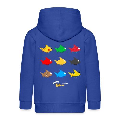 Swim! Yellow! Swim! - Kinderen Premium jas met capuchon