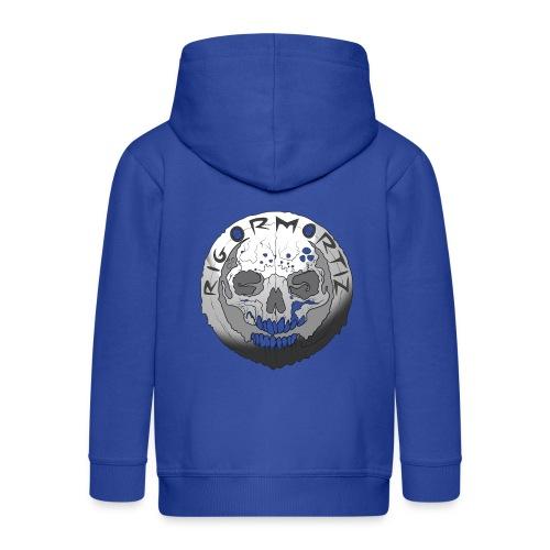 Rigormortiz Black and White Design - Kids' Premium Hooded Jacket