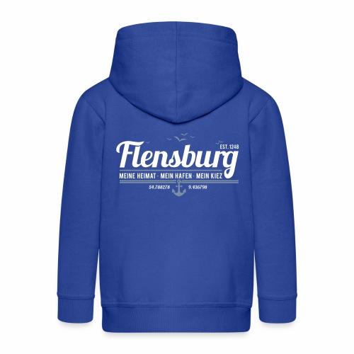 Flensburg - meine Heimat, mein Hafen, mein Kiez - Kinder Premium Kapuzenjacke