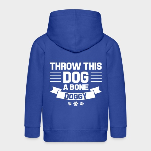 THROW THIS DOG A BONE DOGGY - Kinder Premium Kapuzenjacke