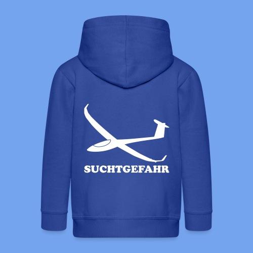 Suchtgefahr Segelflieger Segelflugzeug Pilot - Kinder Premium Kapuzenjacke