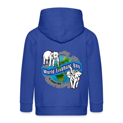 World Elephant Day 2020 - Kinder Premium Kapuzenjacke
