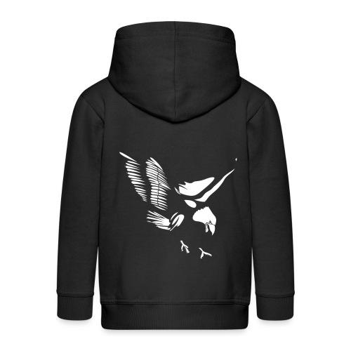 Aquila - Felpa con zip Premium per bambini