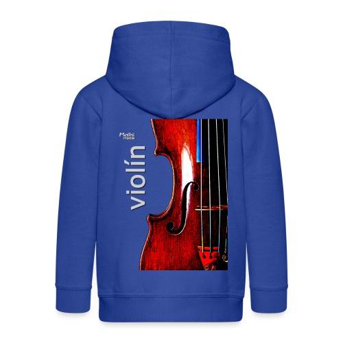 Geige i - Kinder Premium Kapuzenjacke