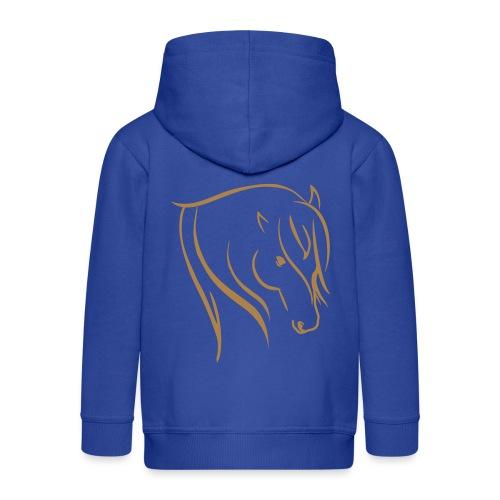 Pferdekopf Motiv Reitbekleidung - Kinder Premium Kapuzenjacke
