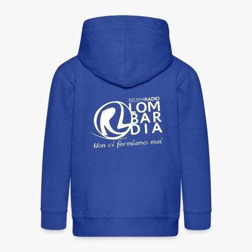 Uomo - Maglietta - Logo Bianco - Felpa con zip Premium per bambini
