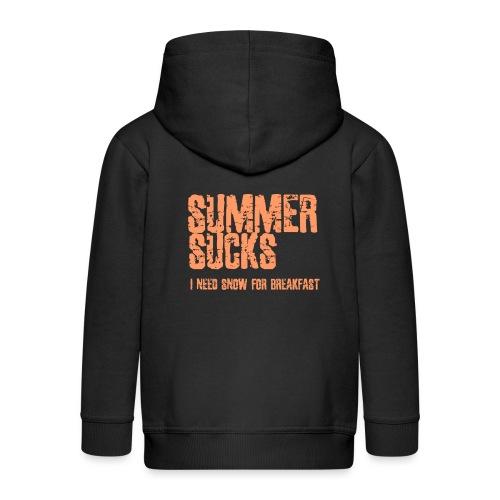 SUMMER SUCKS - Kinderen Premium jas met capuchon